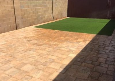 after artificial turf and artistic pavers