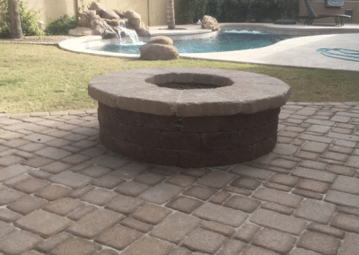 New Paver Decking & Fire pit