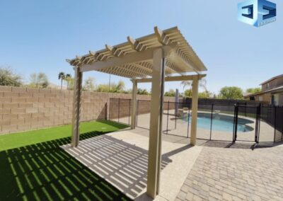 Pavers, Alumawood pergola artificial turf and a pool remodel We do it all(2)