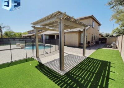 Pavers, Alumawood pergola artificial turf and a pool remodel We do it all(3)