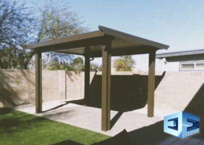 We install Alumawood shade structures
