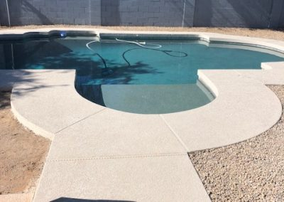 Pool and Spa convereted to baja step