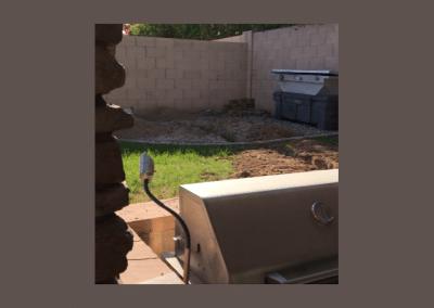 Backyard Fire pit before
