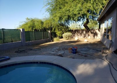 Before artifical turf and pavers