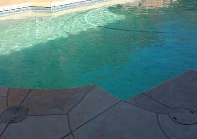 Brand new acrylic flagstone decking