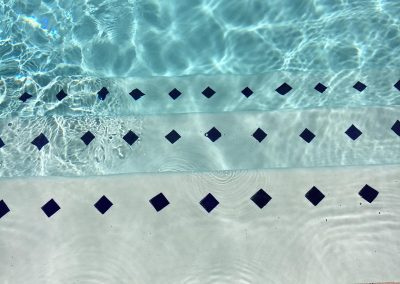 Tile step chips for Commercial pools for safety to code