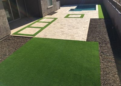 artifical turf and pool deck