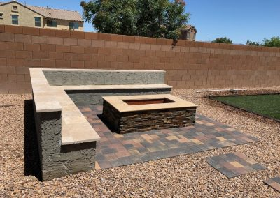 firepit and surround seating