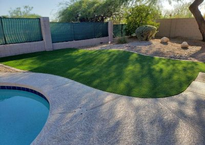 more artifical turf and boarder pavers after
