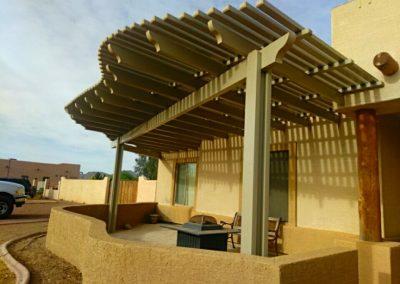 Aluma wood shade structure limited lifetime warranty Can you say custom!!