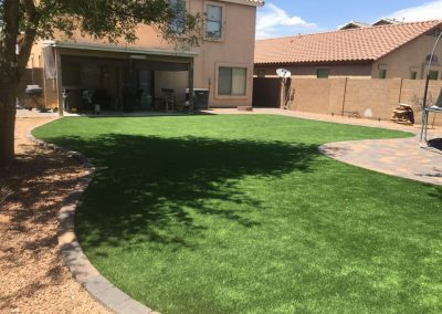 stone decking and artifical turf5